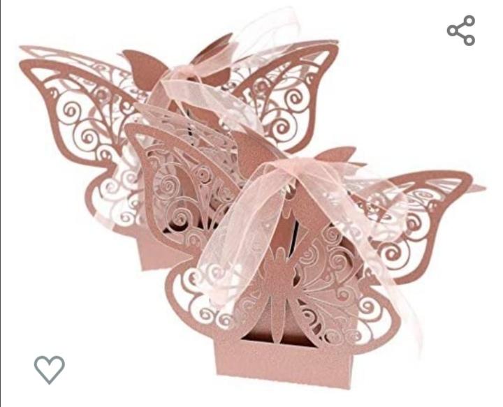 Boite à dragées papillon exquis 50 PCS