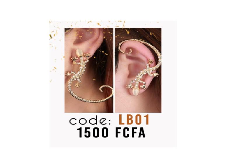 Boucle d'oreille Lézard