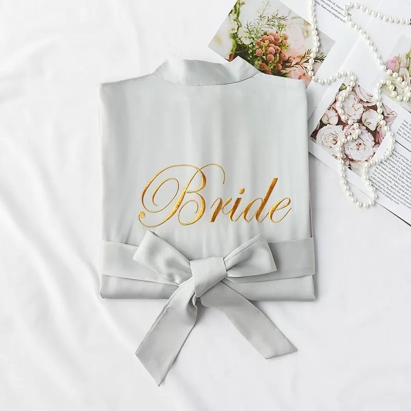Kimono bridesmaid gris