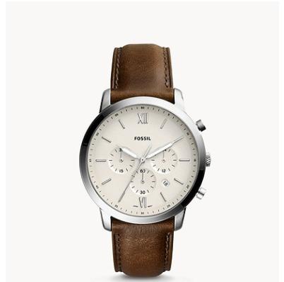 Montre Neutra chronographe en cuir marron