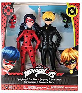 figurine de Ladybug et de chat noir