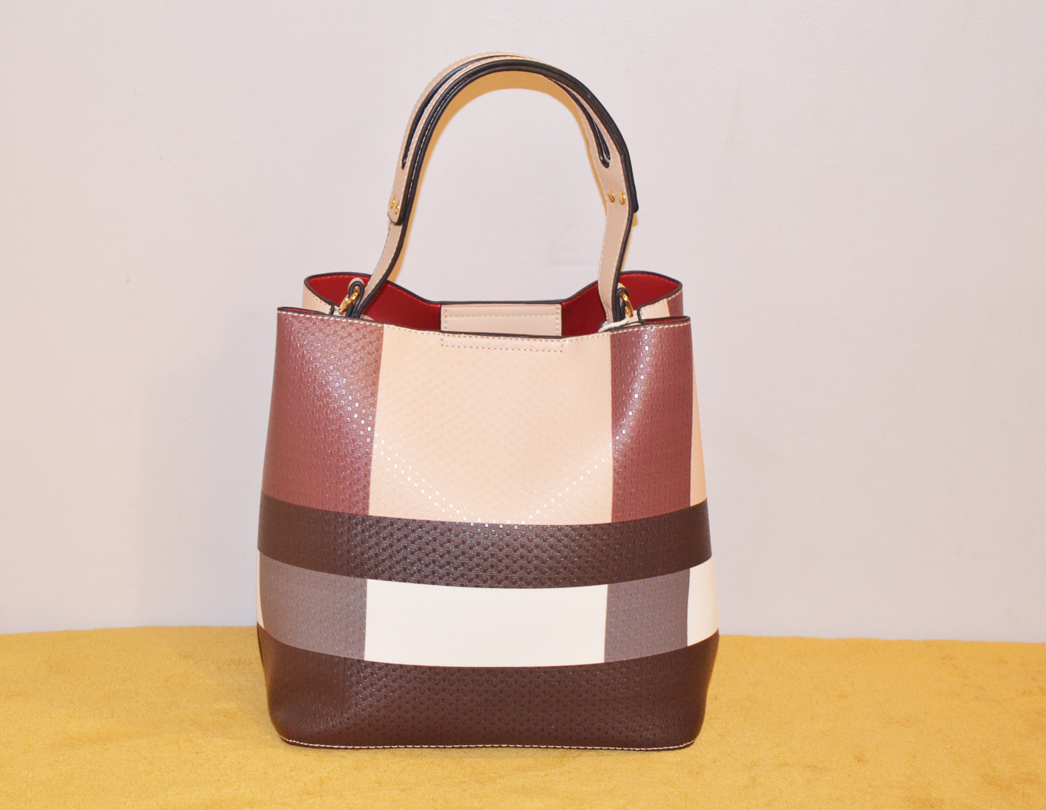 Sac à main - TOM & EVA - Multicolore Beige
