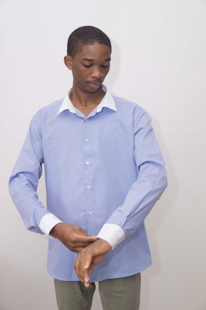 Chemises bicolor en sergé