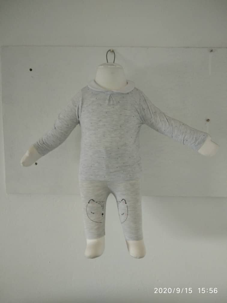 haut longue manches + collant pour bébé 3 mois