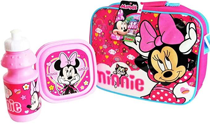 PP Lunch Box Minnie avec Gourde et Boite Ecole Gouter Enfant Minnie