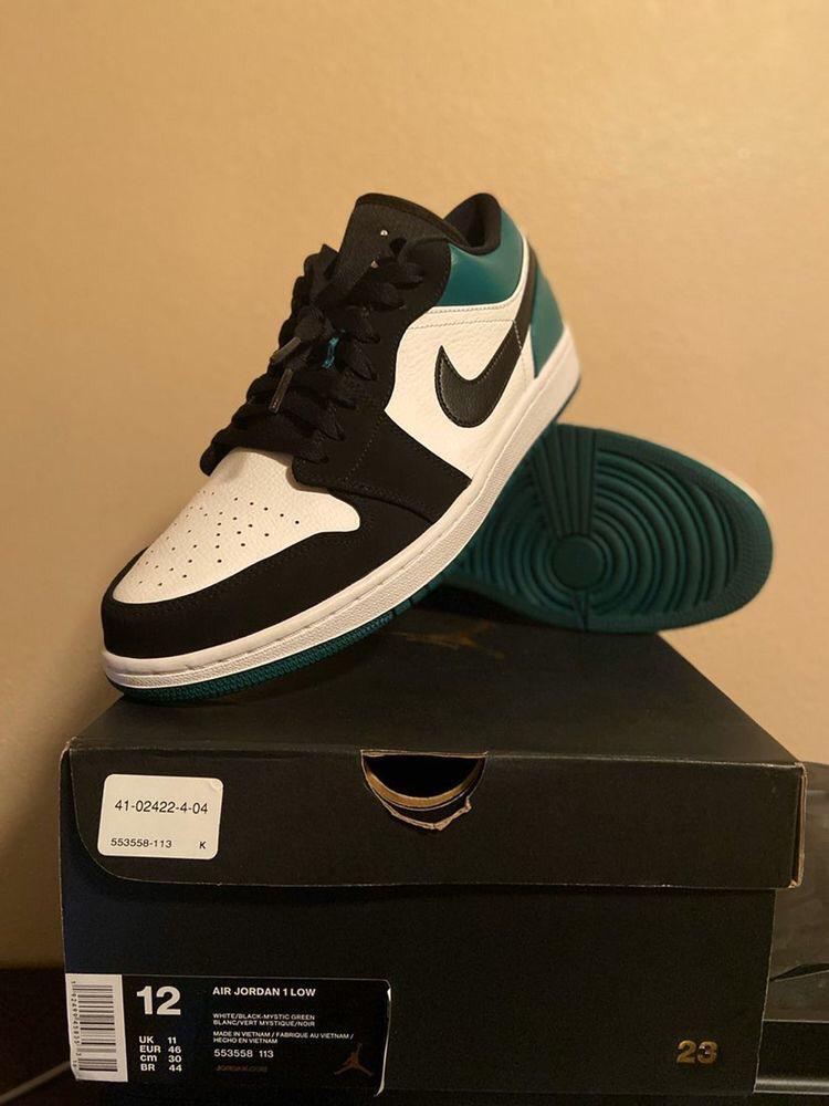 Air Jordan 1 Low GREEN TOE Sneakers