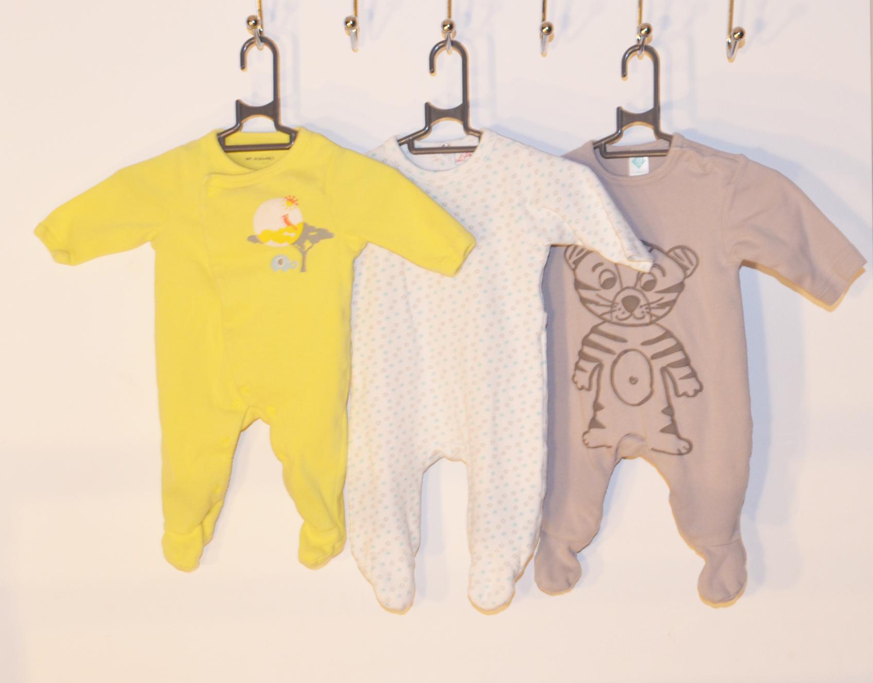 Lot 3 pyjamas - 0/1 mois garçon