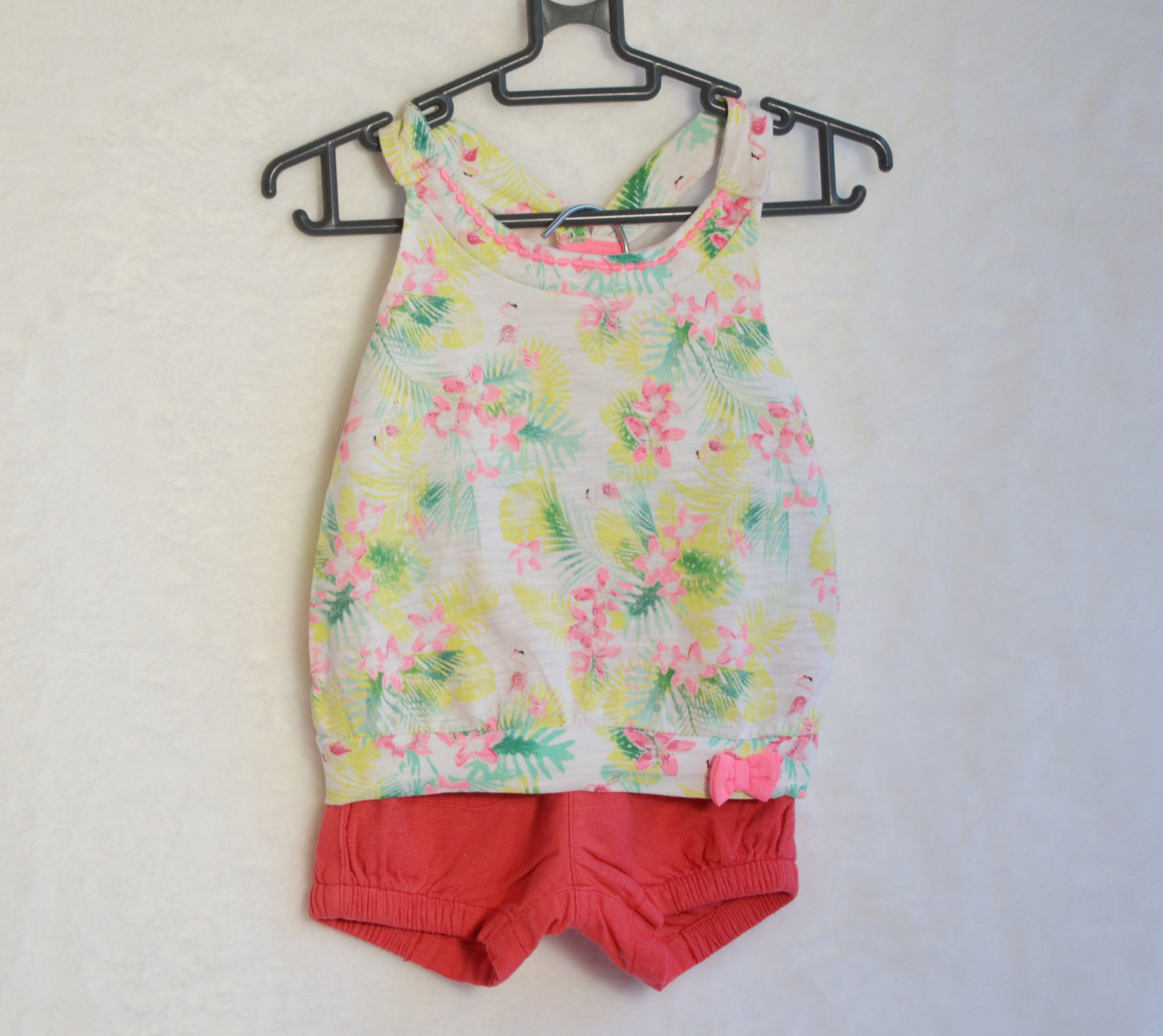 Tenue Haut -Short rose 6M - Gémo