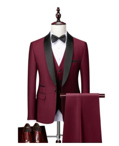 Ensemble 3 pièces pour hommes, costume de bal Slim formel/homme marié, blazer de mariage de haute qualité, veste habillée et pantalon