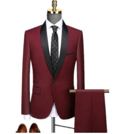 Ensemble 2 pièces pour hommes, costume de bal Slim formel/homme marié, blazer de mariage de haute qualité, veste habillée et pantalon