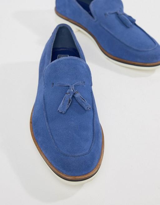 Chaussures Hommes En Derbies à Pompon En Daim