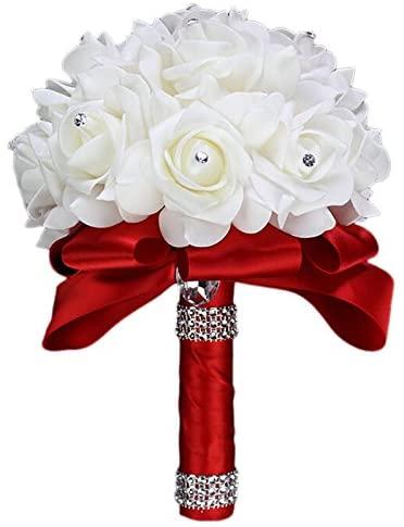 TopKi Direct Bouquet de Fleurs artificielles pour Mariage